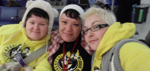 Rebecca English, Ms'Isle and Nauti-Kill at the Roller Derby World Cup