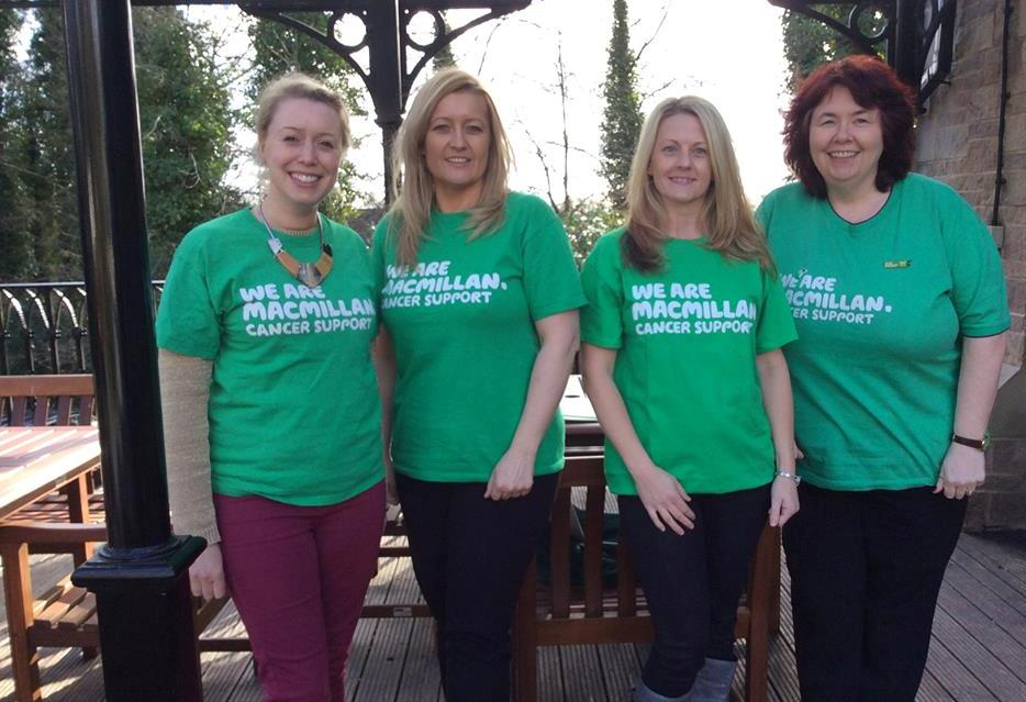 (From left to right) Louisa Walmsley, Emma Wolfe, Lisa Wild and Gillian Wilson, from Macmillan Cancer Support in Cheshire & Merseyside.