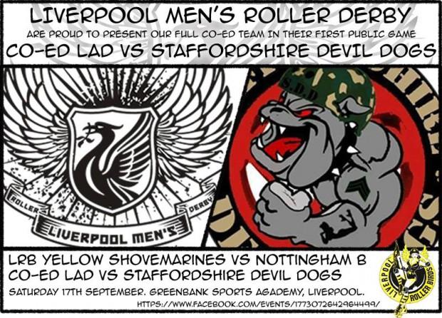 Liverpool Men's Roller Derby vs Staffordshire Devil Dogs
